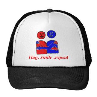 FREE HUGS hugs smile repeat Cap