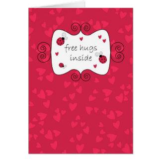 Free Hugs Inside Greeting Card