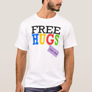 Free Hugs Just Ask Rainbow T-shirts