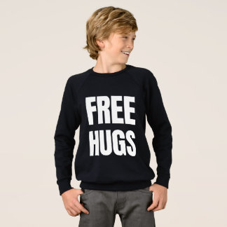 Free Hugs Kids' American Apparel Raglan Sweatshir Sweatshirt