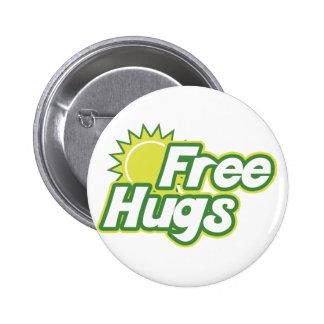Free Hugs Novelty 6 Cm Round Badge
