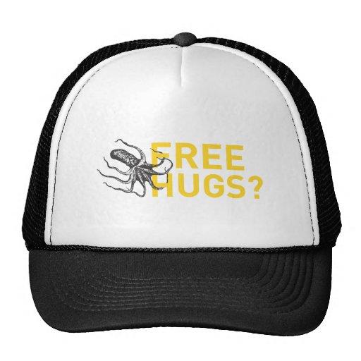 Free hugs octopus trucker hats