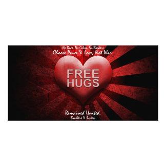 FREE HUGS - PEACE LOVE Photo Card