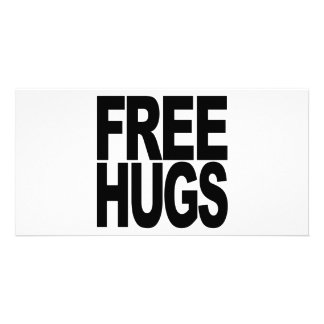 Free Hugs Custom Photo Card