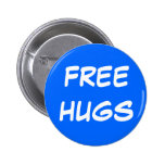 FREE, HUGS PINBACK BUTTONS