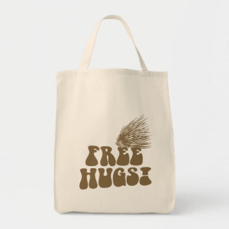 Free Hugs Porcupine Love Grocery Tote Bag