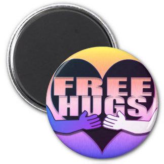 Free Hugs Rainbow Heart Magnet