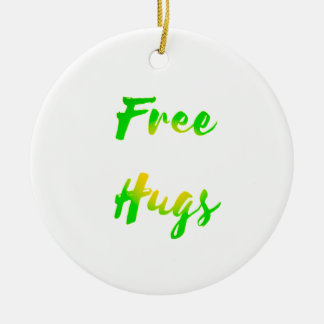 free hugs round ceramic decoration