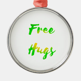 free hugs Silver-Colored round decoration