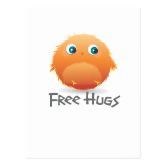 Free hugs small furry creature postcard