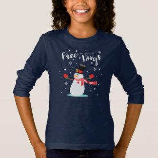 Free hugs. Snowman, Snowflakes. Winter. Cute T-Shirt