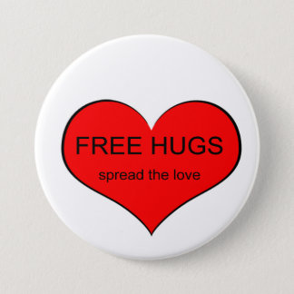 Free Hugs Spread Love 7.5 Cm Round Badge