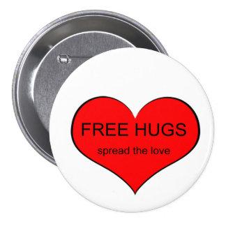 Free Hugs Spread Love Pinback Buttons
