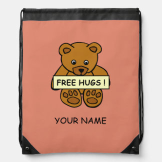 Free Hugs Teddy custom color bag