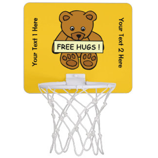 Free Hugs Teddy custom mini hoop