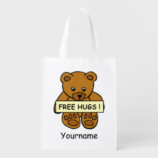 Free Hugs Teddy custom reusable bag