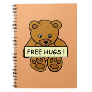 Free Hugs Teddy notebooks