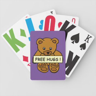 Free Hugs Teddy playing cards