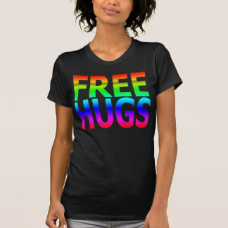 FREE HUGS Women's Rainbow T-Shirt