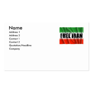 FREE IRAN BUSINESS CARDS