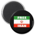 FREE IRAN Flag 6 Cm Round Magnet
