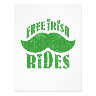 Free irish mustache rides flyer design