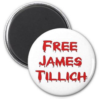 Free James Tillich 6 Cm Round Magnet
