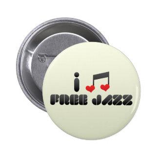 Free Jazz fan 6 Cm Round Badge