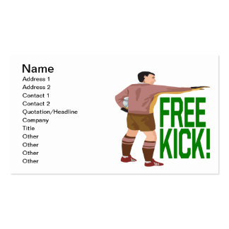 Free Kick Double-Sided Standard Business Cards (Pack Of 100)
