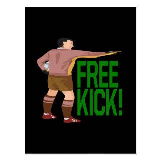 Free Kick Postcard