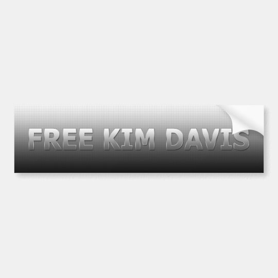 Free Kim Davis Bumper Sticker