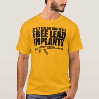 Free Lead Implants AK-47 - Black Graphics T-Shirt