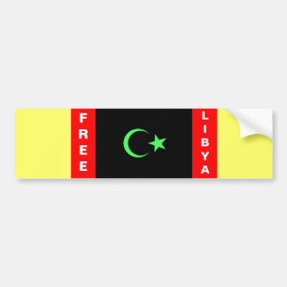 FREE LIBYA CAR BUMPER STICKER