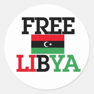 Free Libya Classic Round Sticker