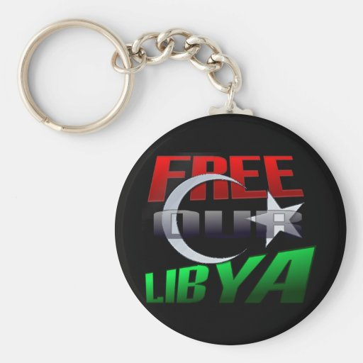 Free Libya Gift for Libyan friends and family Keychain