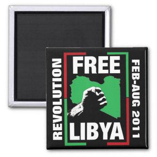 Free Libya Square Magnet