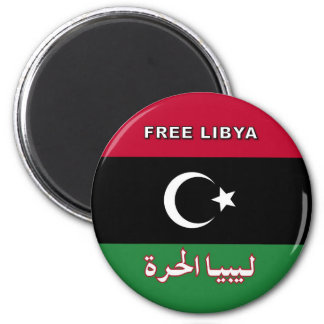 Free Libya 6 Cm Round Magnet