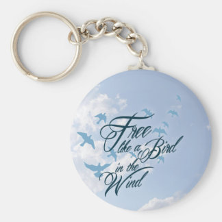 Free like a Bird in the Wind Basic Round Button Key Ring