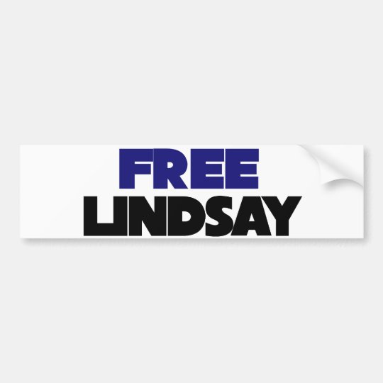Free Lindsay Bumper Sticker