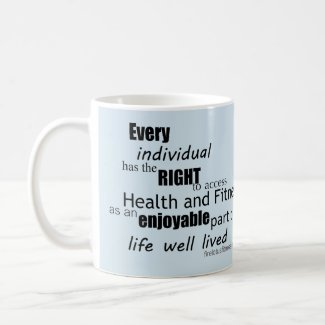 Free Living Fitness Mission Statement Mug Blue