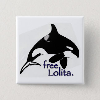 Free Lolita! 15 Cm Square Badge