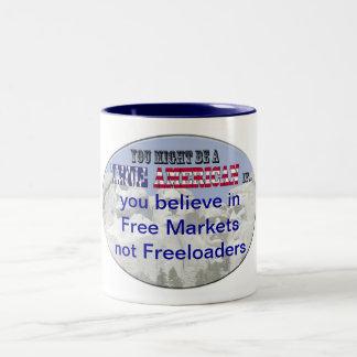 free market not freeloaders coffee mug