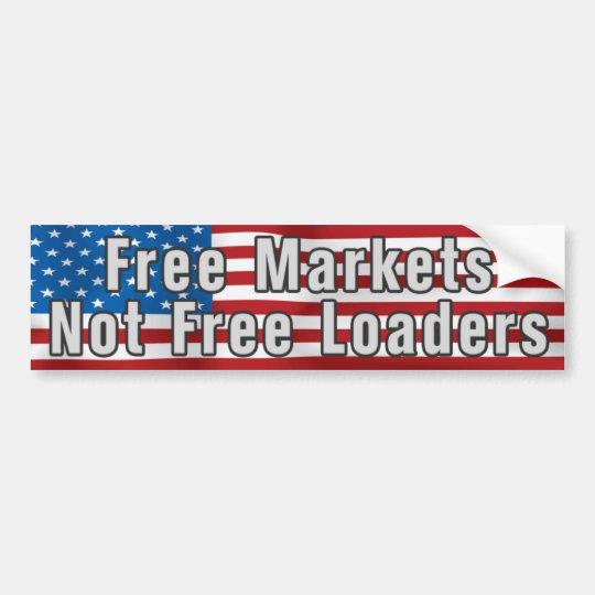 Free Markets Anti Obama Bumpersticker Bumper Sticker