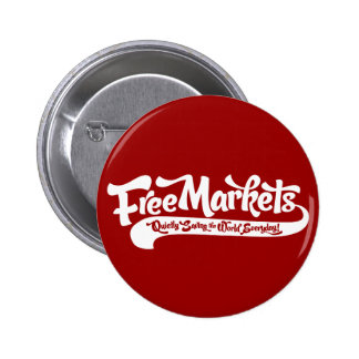 Free Markets Button Pinback Buttons