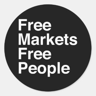 Free Markets Free People Round Sticker