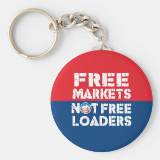 Free Markets - Not Freeloaders Basic Round Button Key Ring