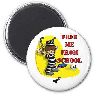 Free me from School 6 Cm Round Magnet