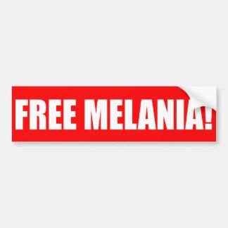"""FREE MELANIA!"" BUMPER STICKER"