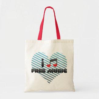 Free Music fan Canvas Bags
