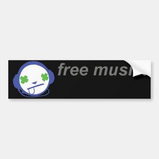 free music free jammie bumper sticker